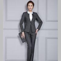 2019 neue stilvolle hänge anzüge frauen büro dame mode pants blazer set jacke hosen geschäftsarbeit weibliche kleidung plus größe