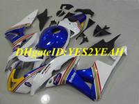 Honda CBR600RR için hi-dereceli Motosiklet Fairing kiti 07 08 CBR 600RR F5 2007 2008 CBR600 ABS Mavi beyaz Marangozluk seti + Hediyeler HX44