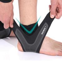 Ginásio Suporte tornozelo Correndo Protecção exterior Pé bandagem elástica tornozelo Brace Guarda Banda Pé Protector Acessórios LJJA4003