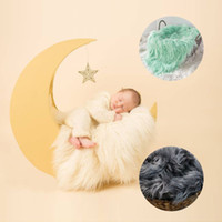 Новорожденная фотография Реквизит Детские позирует Корзину Одеяло плюш Mat малыши Фотосессия студии Infant фотосессия Аксессуар