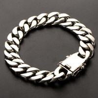 925 Sterling Silber Trendy Schmuck einfaches einzelnes wildes dicke Herren-Armband-Weinlese-Männer und Frauen Paar Armband-freies Schiff
