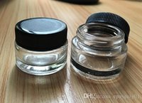 glass stash jar container 3g 3ml custom logo clear wax dab c...