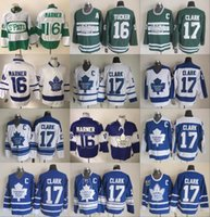 Toronto Maple Hockey Jerseys 17 Wendel Clark Leafs 16 Darcy Tucker Vintage  Classic Blue White Green Stitched Jerseys 29993c1f1