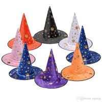 cap bruxa Halloween Party Cosplay Prop para Costumes Festival Fancy Dress Crianças Witch Assistente Vestido Chapéus traje crianças chapéu