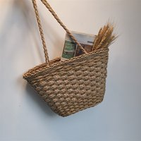 Straw Bag Rattan Bags for 2019 Hand Woven Bohemian Summer Be...