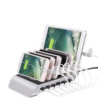 Rodzinne biuro 5 V 12A 60W 6 ports stacja ładowania pulpitu 2.4a Multi Port Smart USB Ładowarka Dock Station do inteligentnego telefonu, tablet