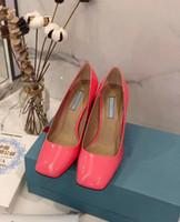 Vier Farben hohe Absätze der Frauen 8.5cm Leder Mädchen sexy flachen Kopf Kleid Schuhe Mehrfarbenkasten Tanzschuhe 35-41