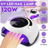 120W Nail Lamp UV 36 LED Light Auto Dual Light Source UV LED...