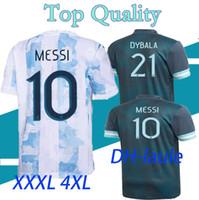 XXXL XXXXL 20 21 الأرجنتين الصفحة الرئيسية ميسي الأرجنتين كرة القدم جيرسي 2020 2021 الرجال لكرة القدم الفانيلة higuain icardi kun aguero soccer shirt s-4xl