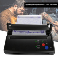 2 Typen Tragbare A5 A4 Papier Tattoo Transfer Schablone Thermische Kopierer Druckermaschine Schwarz Permanet Make-up Tattoo Supplies