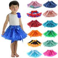MOQ 1PCS 어린이 펭 치마 투투 공주 드레스 접는 Bowknot 단계 스커트 epacket