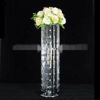 Novo estilo acrílico cristal moldura de metal do partido do bolo de casamento stand de exibição best01182