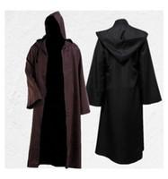 Halloween Robe Cosplay Designer Mode Jedi Knights Mantel Darth Vader Cloak Cos Kostuum voor Mannen Mode Groothandel
