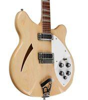 La Chine a fabriqué 360 guitare bois naturel 12 cordes guitare électrique semi-creuse triangle de corps de corps de la poignée de la poignée de la perles de perle de la Chine