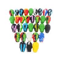 Çok Renkli Kafatası tasarım NonStick Silikon Konteyner Wax Dab Silikon Kavanoz