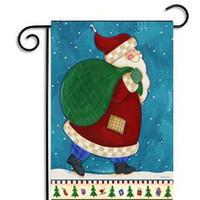 11styles Рождество сад знамена флагов мультфильм шаблон Рождественские темы животных Снеговик выкройки вечеринка декор флаг Бесплатная доставка F6E