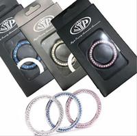 Cristal De Mode Strass Décor Moteur De Voiture Début Porte-clés Start Stop Bouton D'allumage Sticky Ring Sticker