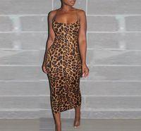 Club Casual Ropa para mujer Sexy Designer Leopardo Vestidos de Bodycon Vierral 2020 Nueva moda Ropa femenina Noche