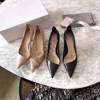 2019 6.5cm talons professionnels de talons hauts de chat noir sexy souligné tempérament avec les vides sexy simple dames chaussures vent de fées d'été