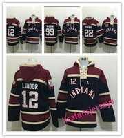 Herren Baseball Hoodies 12 Francisco Lindor 22 Jason Kipnis 99 Rick Vaughn alle genähten Herren Designer Hoodies Winter Jerseys Hooded Pullover