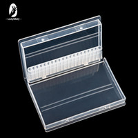 Clear Plastic Nail Drill Bits Storage Box Stand Display 20 S...