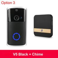 2020 Yeni Akıllı IP Video Interkom Kapı Zili Wifi Video Telefon Kapı Çan Wi-Fi Kapı Zili IR Alarm Kablosuz Ev Güvenlik Akıllı V5 Kapı Kamera