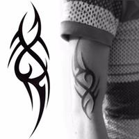 Стильный 3d Новый Мужской Рукав Половина Рукава Временные Наклейки Totem Татуировки Боди-Арт Татуировки Мальчики Инструменты Красоты SH190724