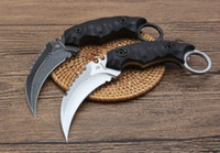 Strider Shadow Claw Knife D2 60 HRC Karambit Utomhusjakt Kniv Camping Survival Fixed Blade Knife 1pcs A1PA