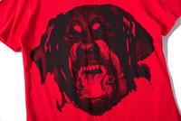 2019 الصيف أزياء ذات جودة عالية العلامة التجارية الأحمر رجل كلب صيد كلب الطباعة التي شيرت قصيرة الأكمام التي شيرت رجالي ملابس رجالية قمم المحملة S-XL