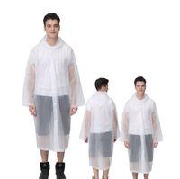 Nueva Moda Hombres Mujeres lluvia del impermeable impermeable poncho adulto Escudo transparente claro de juego portable del camping al aire libre con capucha ropa impermeable