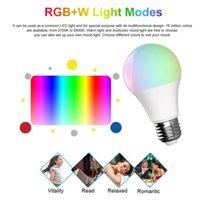 LED واي فاي الذكية لمبة ضوء شمعة لمبات إضاءة RGB عكس الضوء B22 E26 E27 APP التحكم عن بعد متوافق مع اليكسا صفحة Google الرئيسية