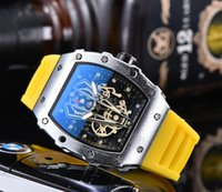 2020 Comercio al por mayor de lujo para hombre del reloj de manera 27-03 estrenar relojes de diseño de la goma del movimiento de cuarzo reloj de pulsera de reloj masculino Deporte