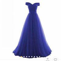 Reais vestidos azuis da dama de honra fora do ombro plissados A Line Plus Size empregada doméstica do vestido de honra vestidos de festa de casamento plissados Zipper