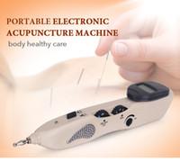 2020 neue bewegliche Körper gesund SorgfaltMassager Pen Elektronische Laser-Akupunktur Pen Meridian Akupunktur Pen 2 in 1 Home Use DHL-freies Verschiffen