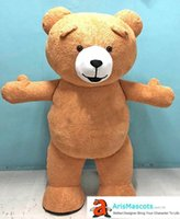 200cm 6ft 6inches tall Funny Inflatable Suit Brown Teddy Bea...