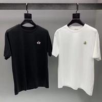 2019 nova marca mens designer de moda t camisas de verão no peito pequena abelha bordados de manga curta camisetas casuais t camisas masculinas homme t-shirt