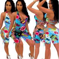 Mode Frauen Jumpsuits Blumendruck Sleeveless Halter-Spielanzug Sommer kurze Hosen-Overall-Einteilige reizvolle beiläufige Partei Bodysuit Bester Hot