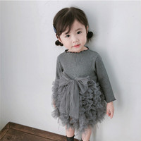 Girls Dresses Girl Clothes Toddler Kids Baby Girls Knit Bow ...