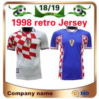 Homem retro edição # 9 Prosinecki futebol jersey 1998 copa do mundo # 8 camisa suker de manga curta uniformes de futebol venda