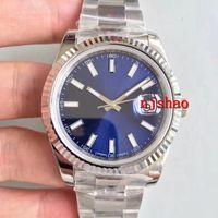 2019 Lüks Saatı Mavi Siyah Beyaz 2813 Otomatik Mekanik Paslanmaz Çelik Erkek Erkek Saatı Saatler