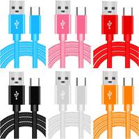 Metall geflochtener Typ C-Micro-USB-Kabel dickere Stoffkabel für Samsung S8 S9 S10 Note 8 9 10 HTC Andriod Phone