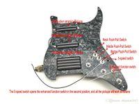 1 Set caricato Black Black SSH Pickups PickGuard Alnico Magnete per chitarra elettrica Strat Guitar Pickups Super, opzione tono multiplo limitato