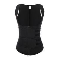 Kobiety Waist Trener Gorset Zipper Hook Shapewear Podwójny Kontrolny Body Shaper Tummy Fat Burning Paistry Cincher