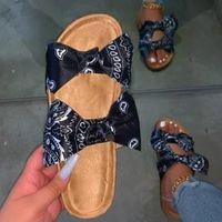 صنادل الصيف النساء 2020 امرأة أحذية كورك الصنادل الأحذية المسطحة أزياء السيدات شاطئ ساندليس المرأة Sandalias موهير