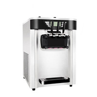 3 tatlar Lezzet Yumuşak dondurma makinesi 2400 W Ticari dondurma makinesi 20-24 / h Hava-soğutma Paslanmaz çelik Yoğurt makinesi