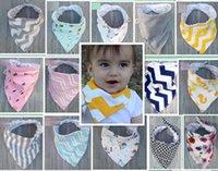 17 أنماط الطفل المرايل 100٪ ٪ نقطة شيفرون باندانا المرايل الرضع babador اللعاب bavoir منشفة baberos ل الوليد الطفل بنات بنين