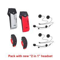 Intercomunicador de motocicleta (embalagem dupla) Freedconn Colo-Rc Bluetooth Capacete Headset 1000m sem fio + L3 com 2 em 1