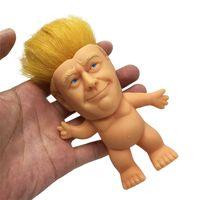 Donald Trump Troll Puppe Lustige Trump Simulation Kreative Spielzeug Vinyl Action Figuren Lange Haare Puppen Lustige Hand Spiel Kinder Spielzeug Großhandel Arsch360