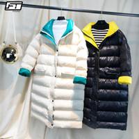 Fitaylor Mujeres invierno largo de la capa Nuevo Ultra Luz Blanca pato abajo de la chaqueta femenina delgada capa de la chaqueta a prueba de viento del soplador de Down