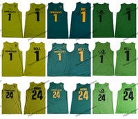2019 Mens Oregon Ducks Bol Bol # 1 Colégio Basquete Jerseys 1 Sino 24 Dillon Brooks Verde Costurado Camisas